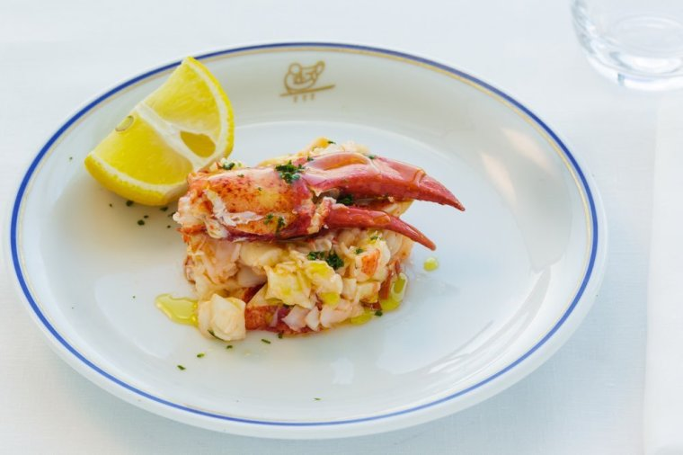 Lobster Salad, with Extravirgin Olive Oil and Lemon