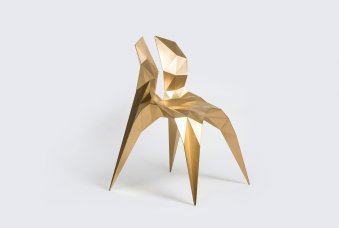 Gallery ALL_Zhoujie Zhang_Split Chair Brass_2014_Brass