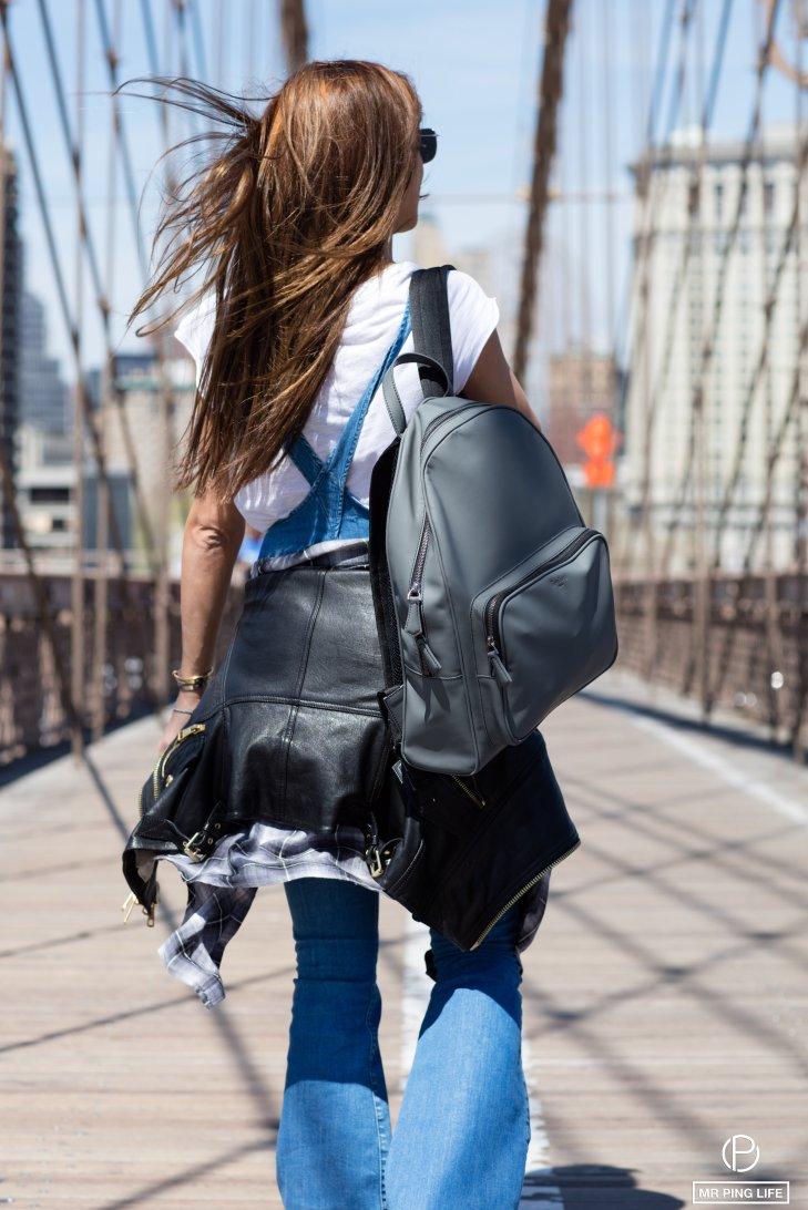 Diesel denim zipper up overalls  Berluti gray matte-leather backpack  Burberry black leather jacket  HublotBig Bang One Click Pop Art King Gold watch