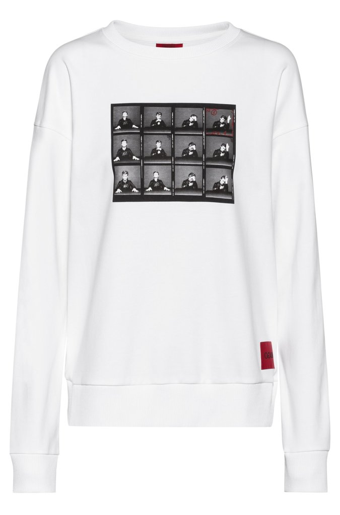 'Hugo Loves Bowie' Sweatshirt by Hugo, with photographs of Bowie