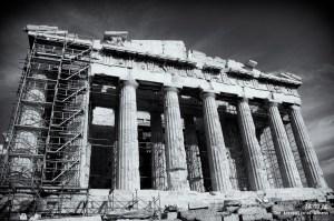 The Parthenon tempe in the Athenian Acropolis