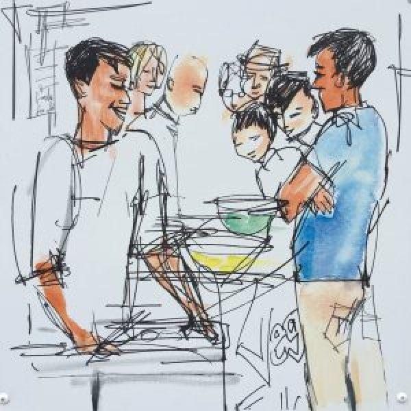 Street cooking on Portobello and Golborne Road Street Restaurants