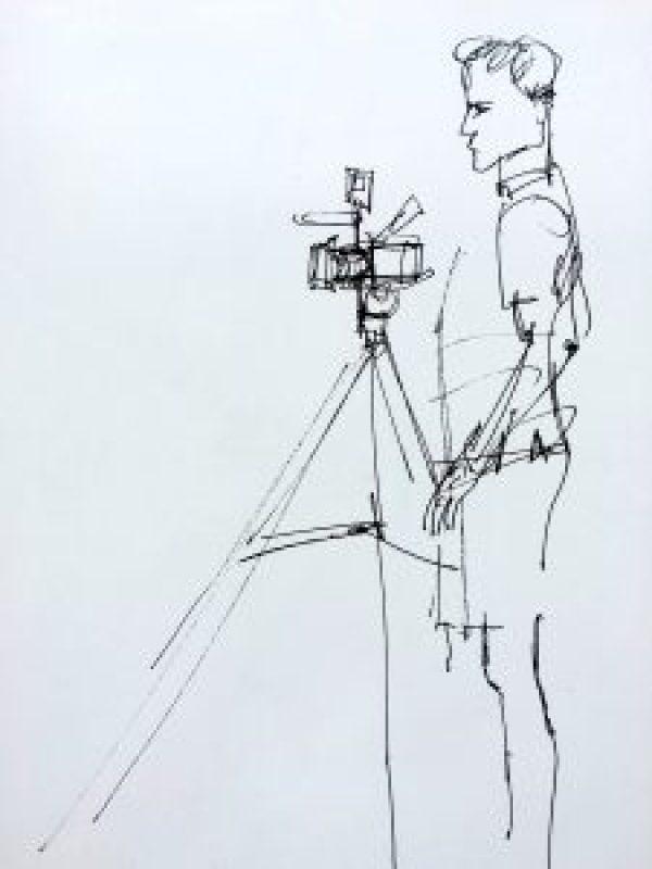 Cameraman on the Portobello and Golborne Road Markets