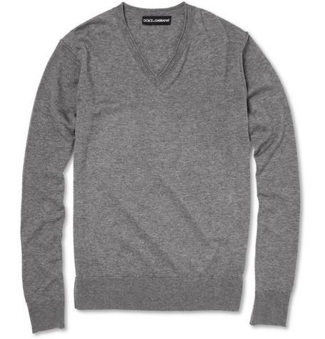 Dolce & Gabbana Inverted-Seam Cashmere and Silk-Blend Sweater