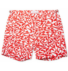 Orlebar Brown Bulldog Mid-Length Water-Print Swim Shorts