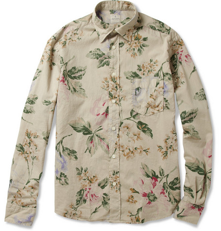 Hartford Lightweight Hawaiian-Print Cotton Shirt