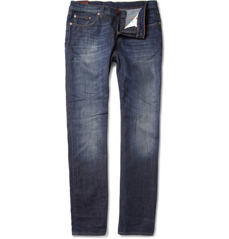 J Brand Denim Kane Washed Straight-Leg Jeans