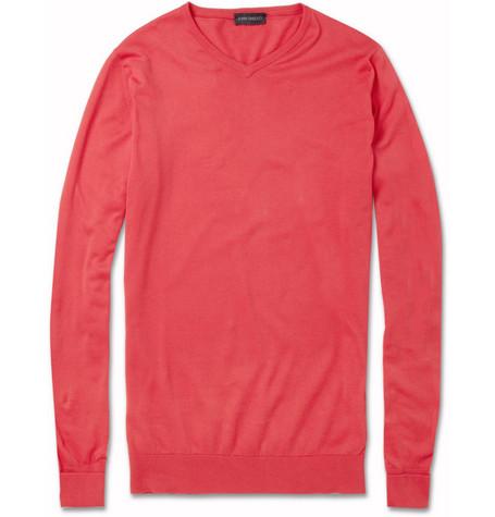 John Smedley Roe Sea Island Cotton Sweater