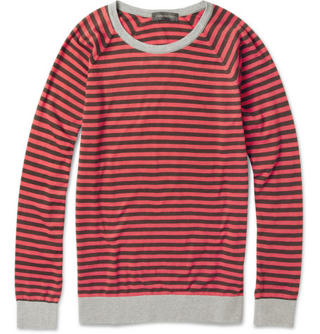 John Smedley Dominic Striped Cotton Sweater