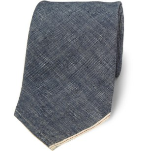 Beams Plus Classic Cotton-Chambray Tie £70