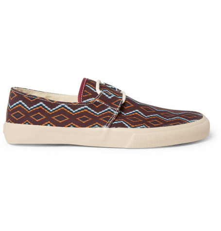 YMC Navajo-Inspired Cotton-Canvas Sneakers