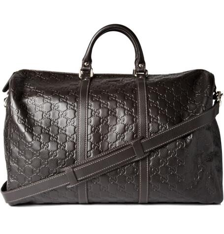 GucciEmbossed Weekend Bag