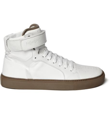 Yves Saint LaurentLeather High Top Sneakers