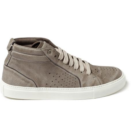 Yves Saint LaurentLeather Mid Top Sneakers