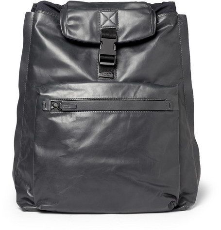 LanvinLeather and Twill Backpack and Tote