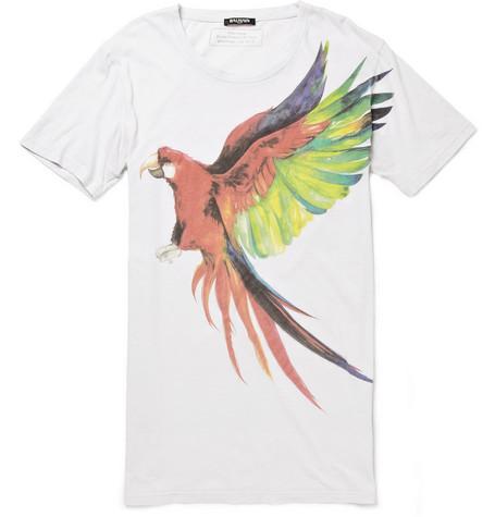 BalmainLong-Length Printed Cotton T-Shirt