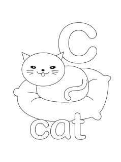 letter c printable coloring pages