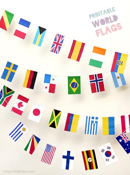 bandiere stampabili