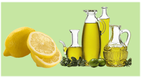 Lemon and Olive oil for furniture cleaning