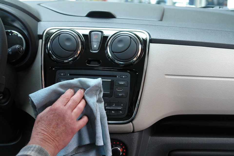 clean the interiors of the car first