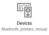 Devices button