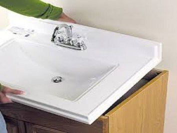 bathroom sink installation