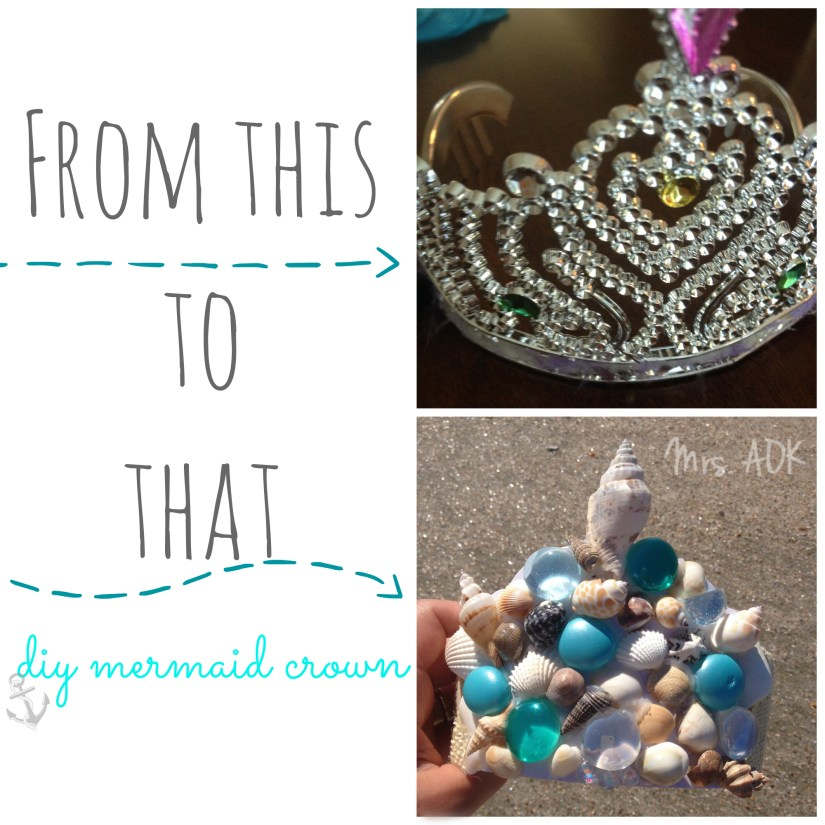 Mermaid Crown Before & After