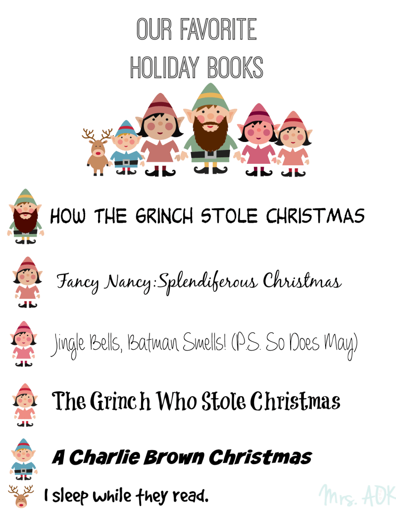 Our Favorite Holiday Books| Mrs. AOK, A Work In Progress