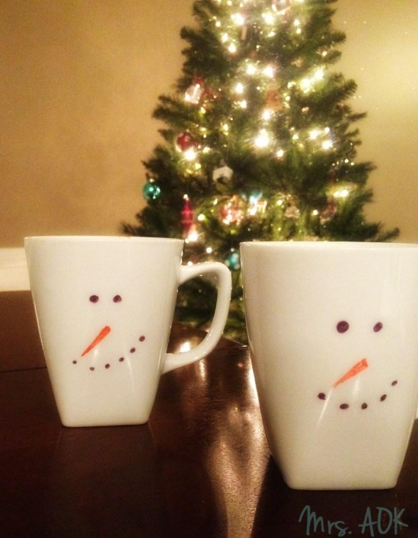 Snowmen Hot Cocoa Mugs  Mrs. AOK, A Work In Progress