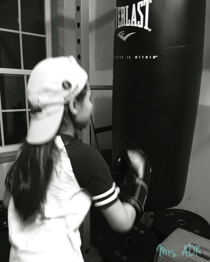 Baby Girl Boxing