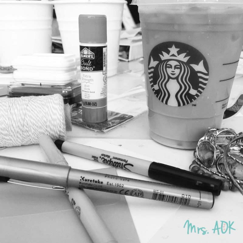 Mrs. AOK, A Work In Progress: Coffee and Crafting
