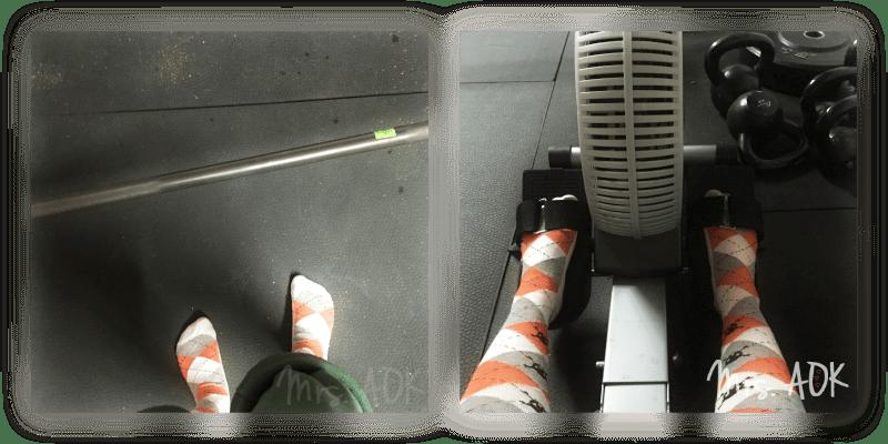Crossfit in socks.