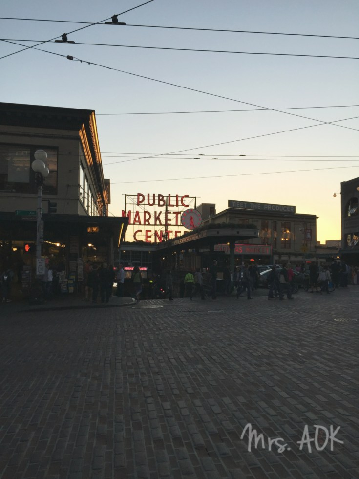 Public Market Center Seattle Dusk| Thank You Notes| Mrs. AOK, A Work In Progress