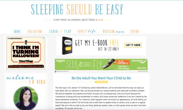 Nina's Blog: Sleeping Should Be Easy
