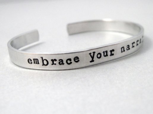 Gift Guide for Bloggers| Embrace Your Narrative Bracelet by Emery Drive