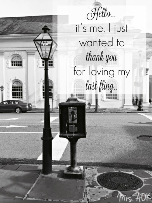 Thank You Notes| Thanks for loving my last fling
