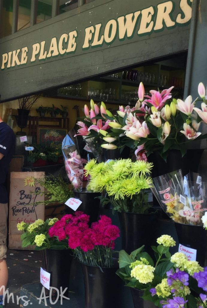 Pike Place Flowers April 2016