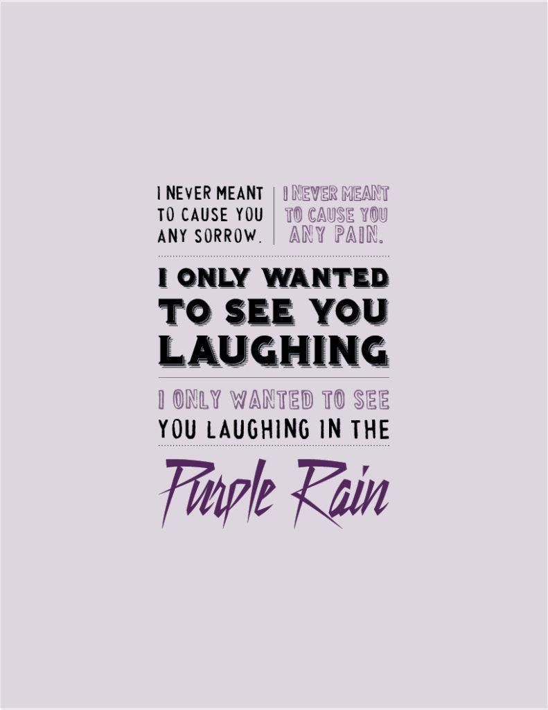 Thank you, Prince. |Purple Rain| Thank You Notes 4/21/16