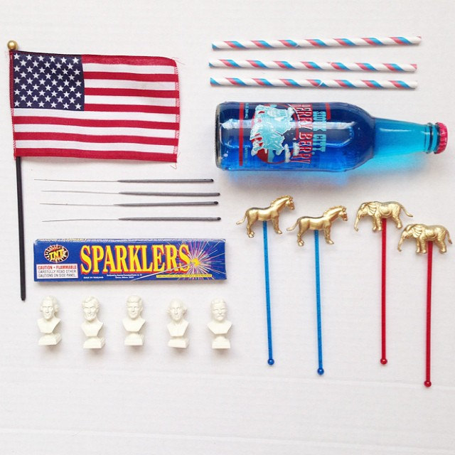 Throw a bipartisan election day party with Etsy! Swizzle sticks via Gnome Sweet Gnome Shop