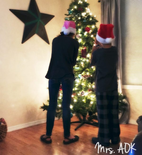 The babies decorating the tree