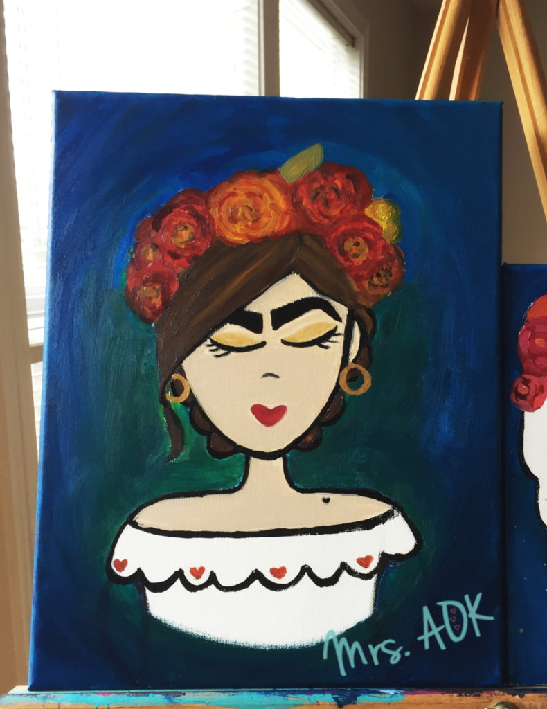 Currently loving painting. This is one of my latest works. :)