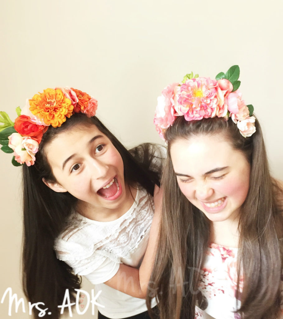 Get your frida on with this diy frida kahlo inspired flower headband we even made a baby frida flower headband but sadly there isnt a cute picture of a baby izmirmasajfo