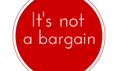 Image result for No bargain photos