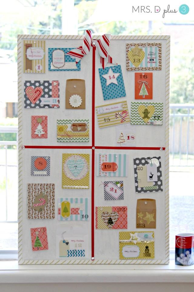 Mrs d plus 3 DIY advent calendar