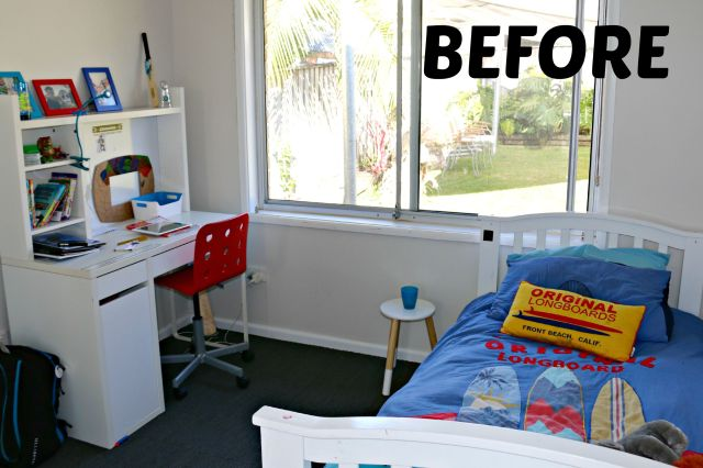 boys bedroom makeover - before