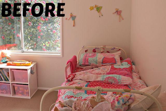 girls bedroom make over before