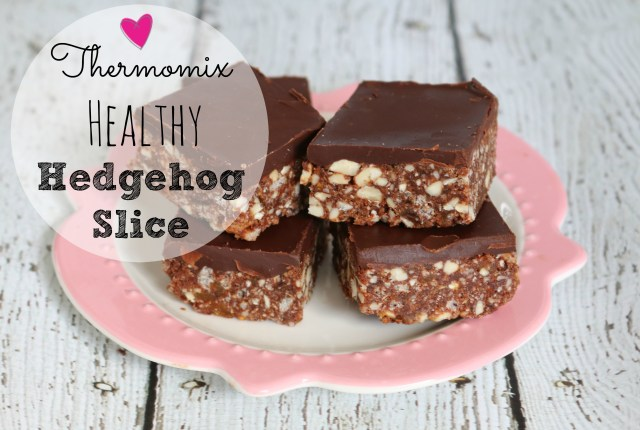 Thermomix healthy hedgehog slice
