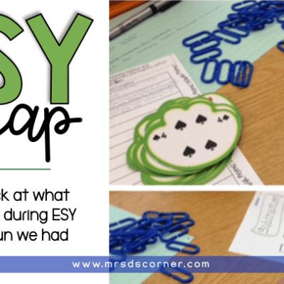 extended school year recap blog post header