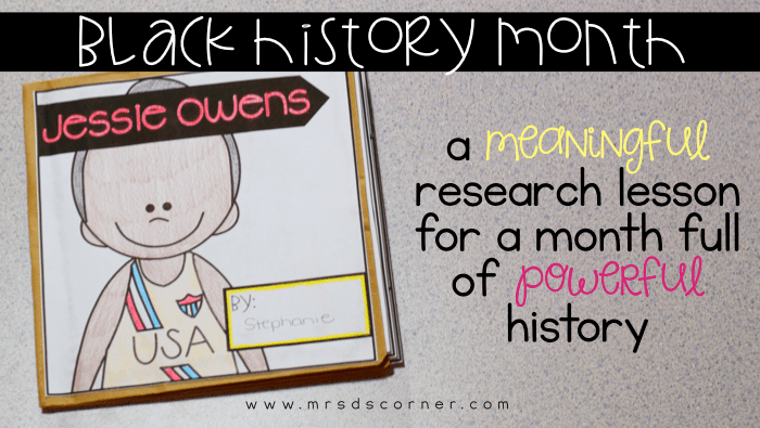 Black History Month Research Craftivity