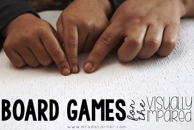 64oz. Games { Board Games for the Visually Impaired }